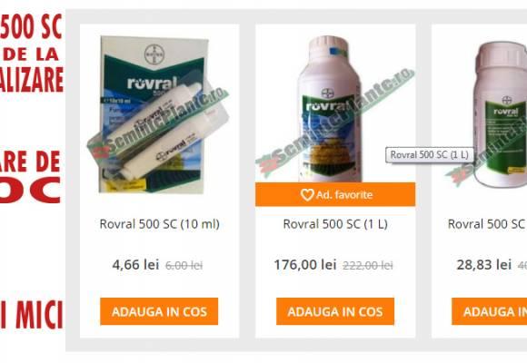 Fungicidul Rovral 500SC - oprire de la comercializare